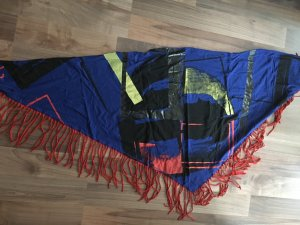 Diesel Fringed Scarf multicolored cotton