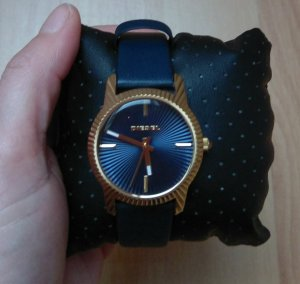 Diesel dz5514 bitty ladies watch damenuhr leder neu