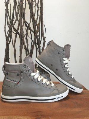 Diesel echtleder Sneaker Chucks Gr. 38 grau