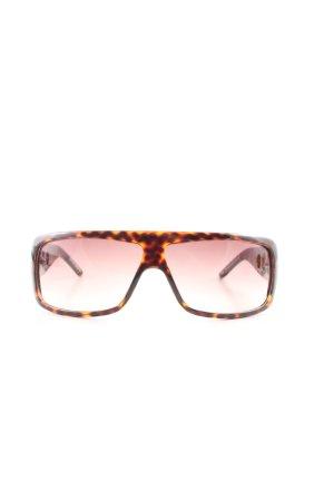 Diesel eckige Sonnenbrille hellorange-braun abstraktes Muster Casual-Look