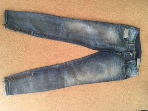 Diesel Jeans a 7/8 blu acciaio Cotone