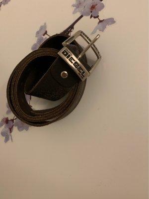 Diesel Hebilla del cinturón marrón oscuro