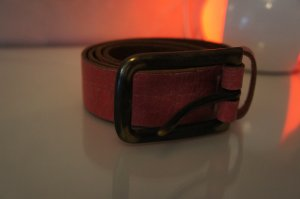 Diesel Belt brick red leather