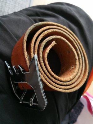 Diesel Belt black-cognac-coloured