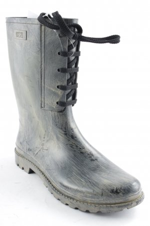 Diesel Gummistiefel anthrazit-creme Street-Fashion-Look