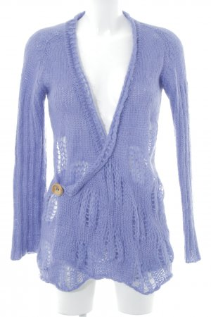 Diesel Crochet Cardigan grey violet loosely knitted pattern fluffy