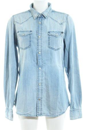 Diesel Hemd-Bluse blau Casual-Look