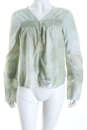 Diesel Hemd-Bluse graugrün Batikmuster Boho-Look