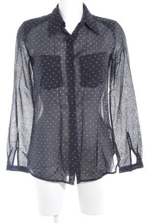 Diesel Hemd-Bluse schwarz-wollweiß Punktemuster klassischer Stil