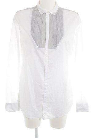 Diesel Hemd-Bluse weiß-hellgrau schlichter Stil