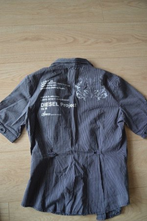 Diesel Short Sleeve Shirt black-silver-colored