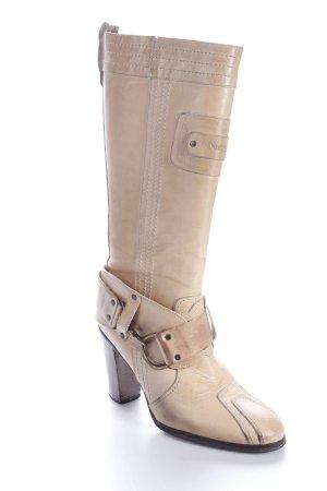 Diesel High Heel Stiefel beige Dekoelemente