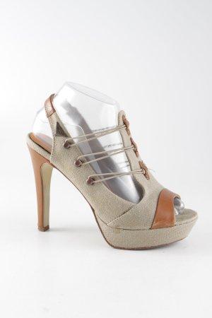 Diesel High Heels beige-braun extravaganter Stil