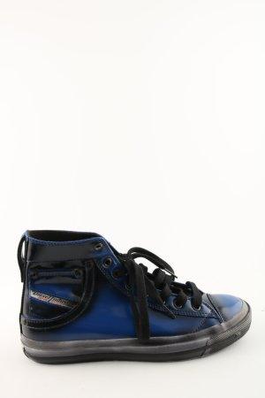 Diesel High Top Sneaker schwarz-blau sportlicher Stil