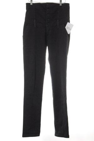 Diesel Pantalón de cintura alta gris oscuro look casual
