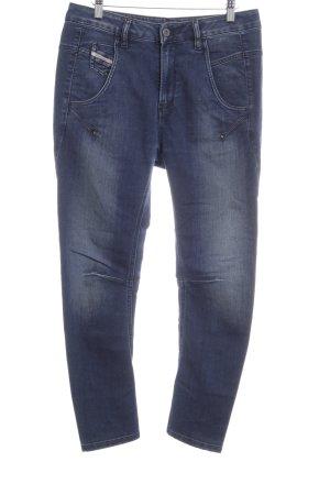 Diesel High Waist Jeans blau Street-Fashion-Look