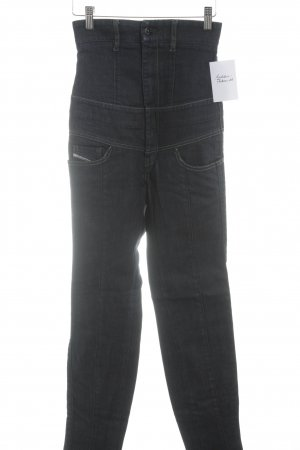 Diesel High Waist Jeans dunkelblau Casual-Look