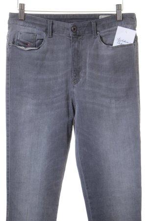 Diesel High Waist Jeans grau-silberfarben Casual-Look