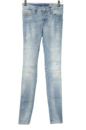 Diesel High Waist Jeans hellblau-weiß Jeans-Optik