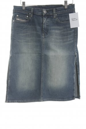 Diesel High Waist Rock blau Casual-Look