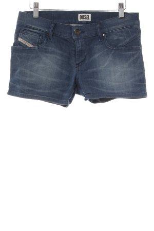 Diesel Hot Pants stahlblau Casual-Look