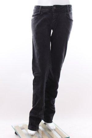 Diesel Hüft-Jeans dunkelgrau