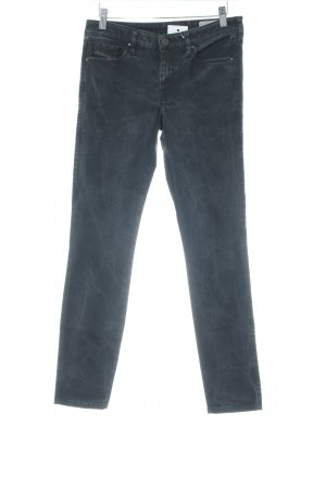Diesel Pantalon taille basse noir style délavé