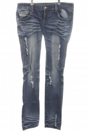Diesel Low Rise Jeans light grey extravagant style