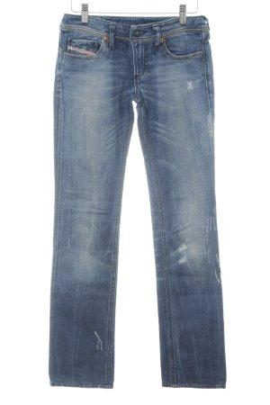 Diesel Jeans vita bassa blu Colore sfumato stile casual