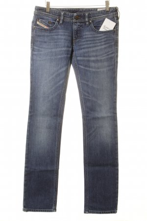 Diesel Low Rise Jeans blue-natural white washed look