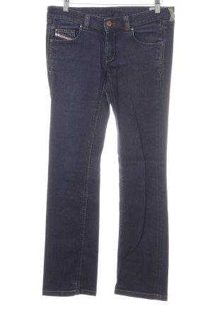 Diesel Jeans vita bassa blu scuro stile da moda di strada