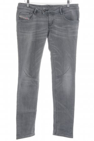 Diesel Low Rise Jeans light grey-grey casual look