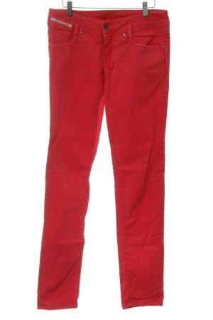 Diesel Jeans taille basse rouge framboise style décontracté