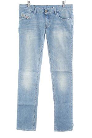 Diesel Jeans vita bassa blu fiordaliso stile jeans