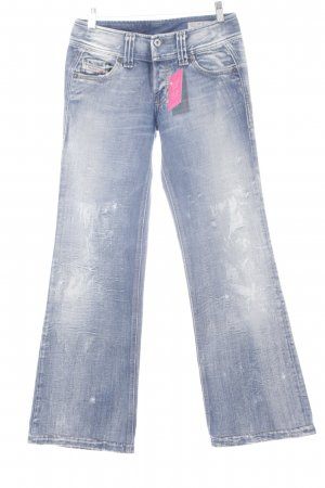 Diesel Industry Baggy jeans wit-blauw casual uitstraling