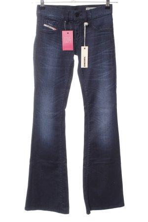 Diesel Industry Boot Cut Jeans blau Casual-Look