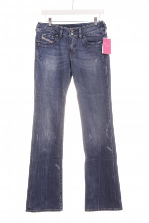 Diesel Industry Boot Cut Jeans blau Casual-Look