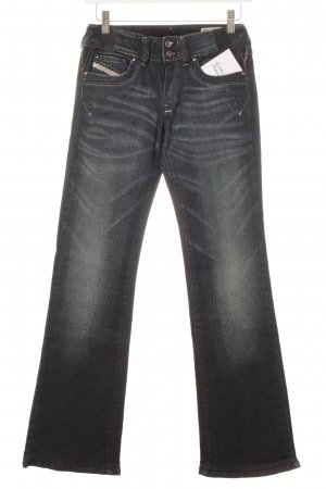 Diesel Industry Boot Cut Jeans dunkelblau-blassblau Casual-Look
