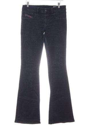 Diesel Industry Boot Cut Jeans dark blue casual look