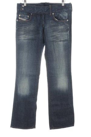 Diesel Industry Boot Cut Jeans dunkelblau Casual-Look