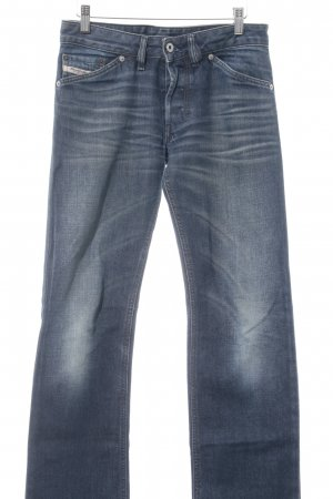 Diesel Industry Boot Cut Jeans dunkelblau Washed-Optik