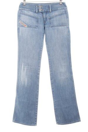 Diesel Industry Boot Cut Jeans himmelblau-wollweiß Casual-Look
