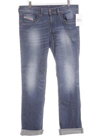Diesel Industry Boot Cut Jeans stahlblau Bleached-Optik