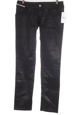 Diesel Industry Pantalon en velours côtelé noir style décontracté