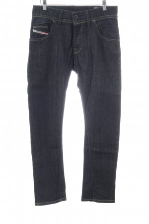 Diesel Industry Hoge taille jeans zwart-blauw casual uitstraling