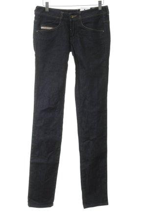 Diesel Industry Hüfthose dunkelblau Jeans-Optik