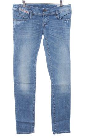 Diesel Industry Low Rise Jeans cornflower blue color gradient second hand look