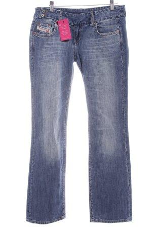 Diesel Industry Jeans taille basse bleuet-blanc style décontracté