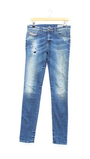 Diesel Industry Jeans stretch bleu acier