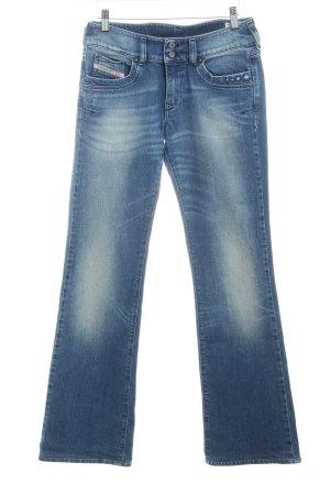 Diesel Industry Jeans flare bleu style décontracté